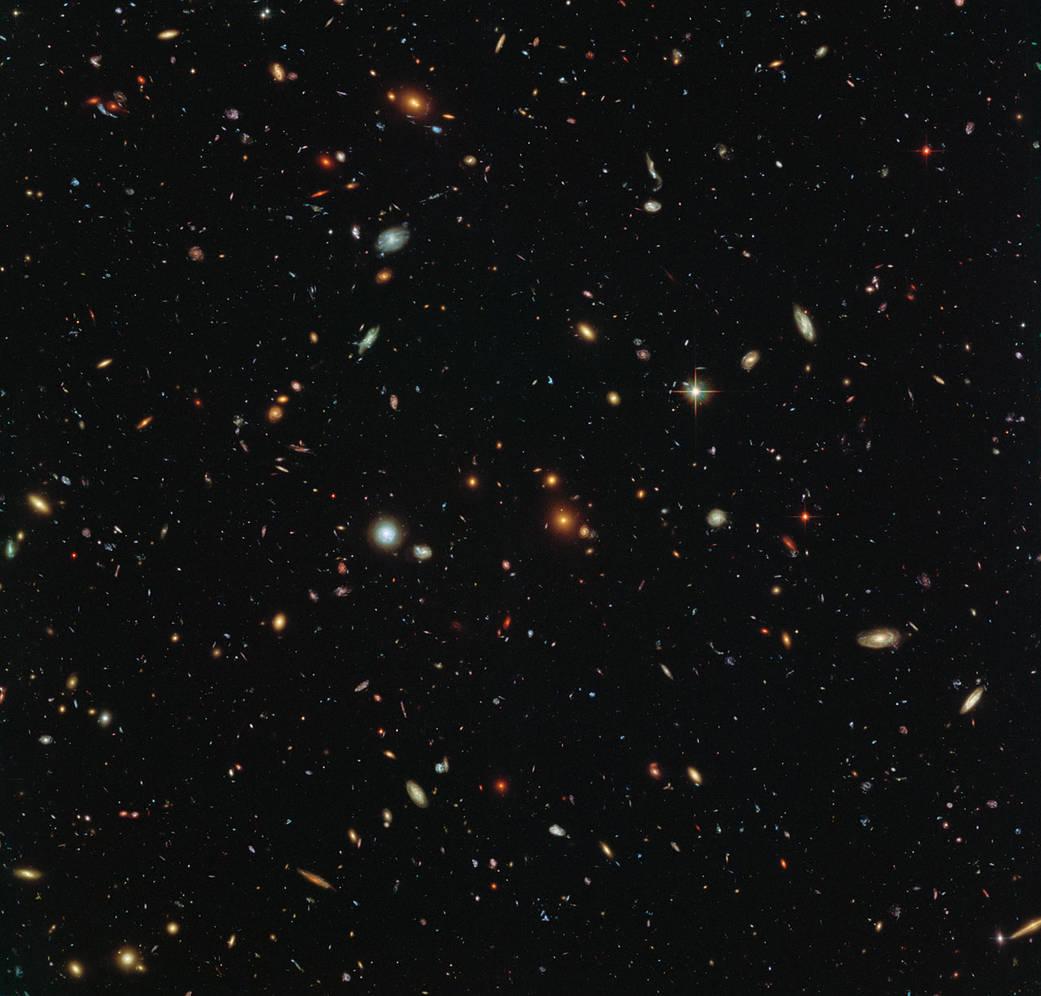 2016.3.11:ハッブル宇宙望遠鏡でみた銀河の大集団