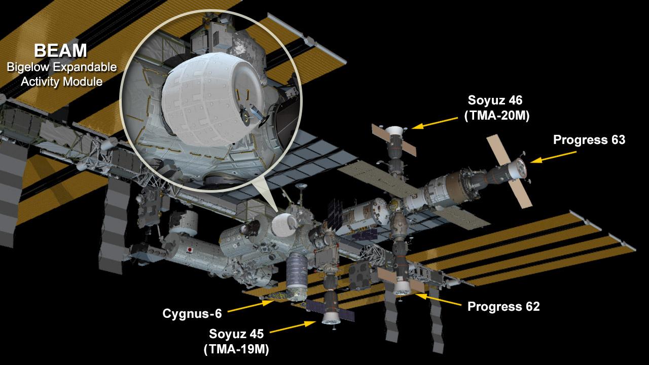NASAの風船型新宇宙居住棟の組立動画
