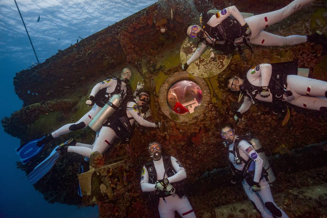 2016.07.23:宇宙空間に最も近い海中での訓練