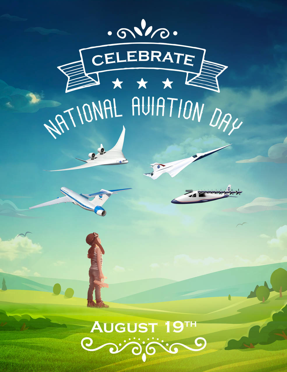 NASAの「飛行機の日」のポスター