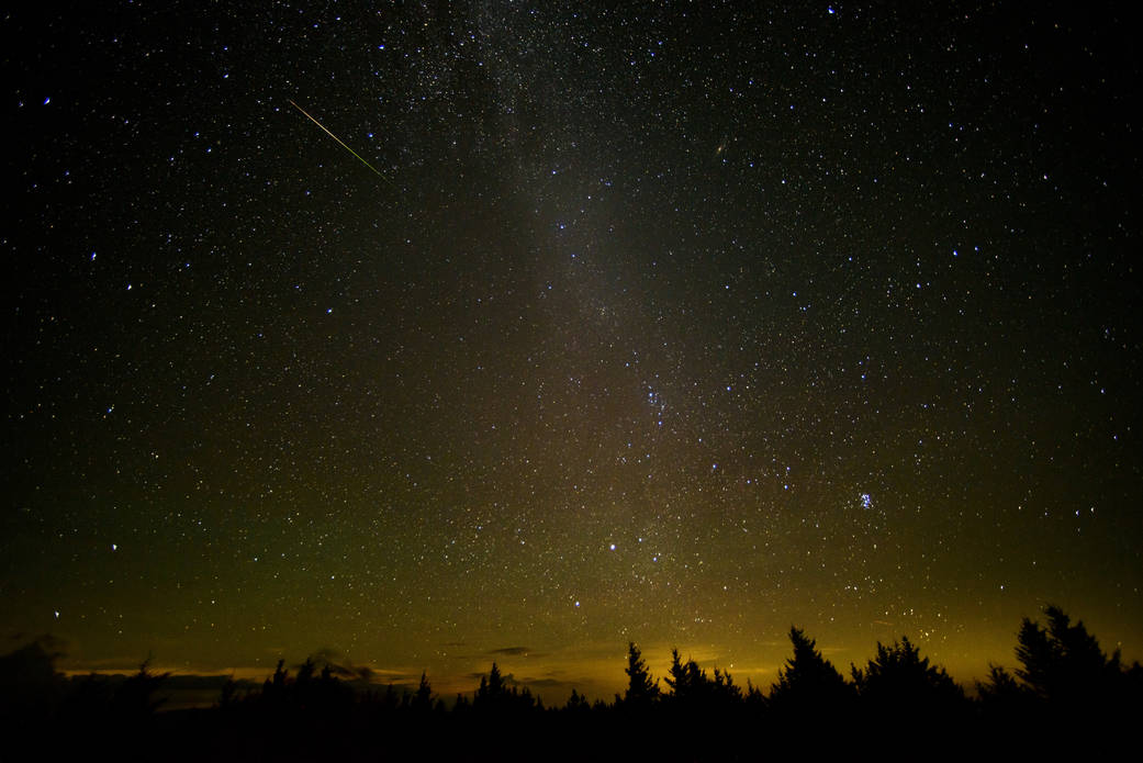 2016.08.13:ウェストバージニア州で見た2016年のペルセウス座流星群