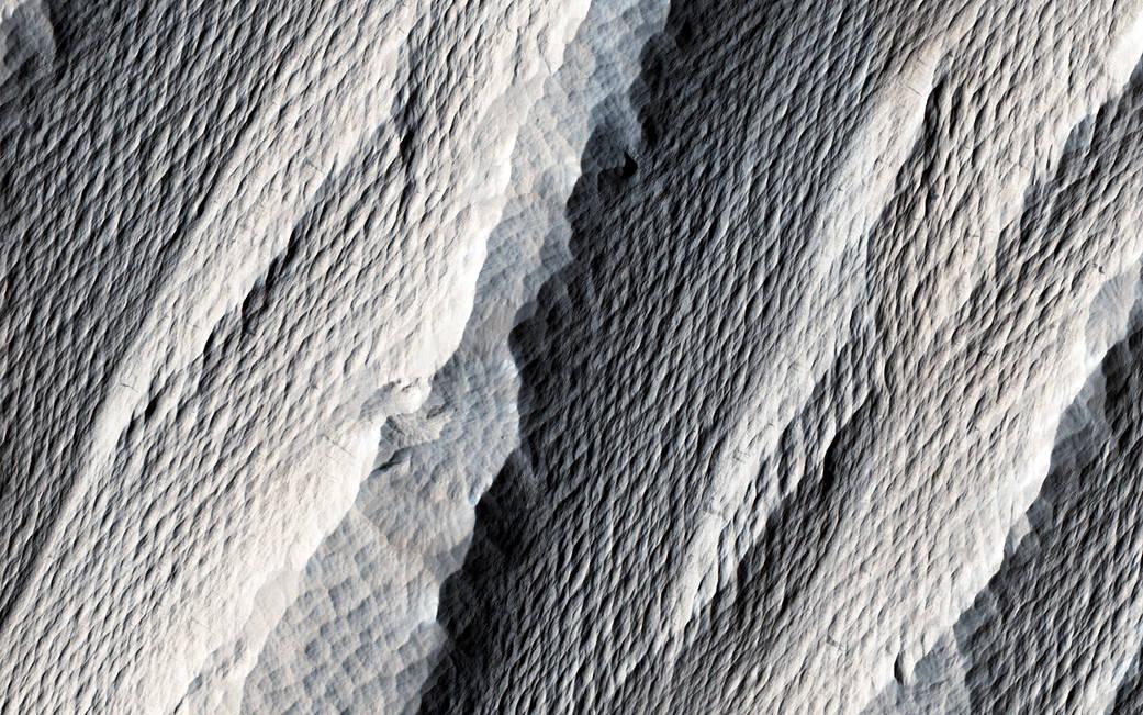 2016.11.10:火星の岩の不思議な風紋