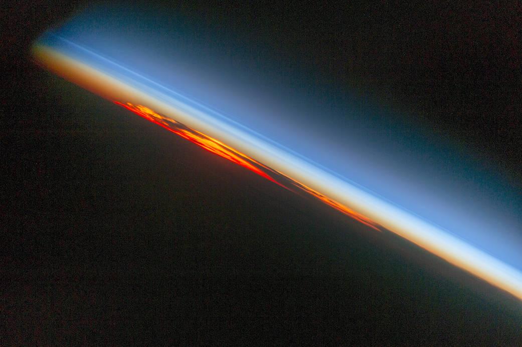 2016.11.30:南大西洋の燃えるような夕日
