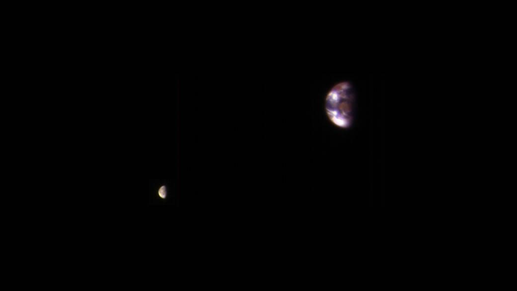 2017.01.07:火星から地球と月を見るとこんな感じに…