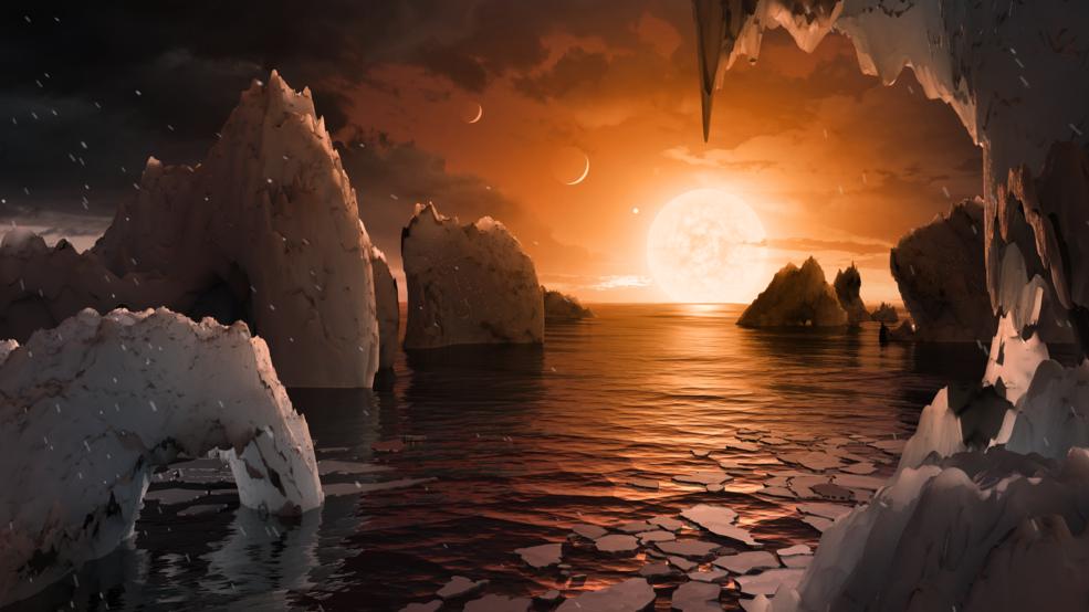 2017.02.22:【動画】TRAPPIST-1d (360 view) 仮想地上パノラマ画像