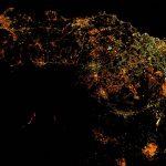 2017.03.23:国際宇宙ステーションからみたエトナ山噴火の夜景
